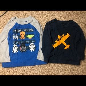 Set of two long sleeve tshirts- 18 months